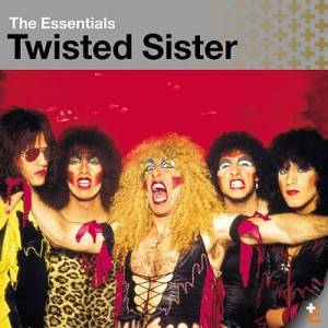 This Twisted Sister album cover exemplifies the glam rock style and its affiliation with tight clothing and painted face.